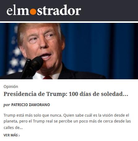 El Mostrad Trump Patricio Zamorano