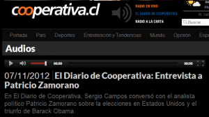 Radio Cooperativa Screen Shot Patricio Zamorano