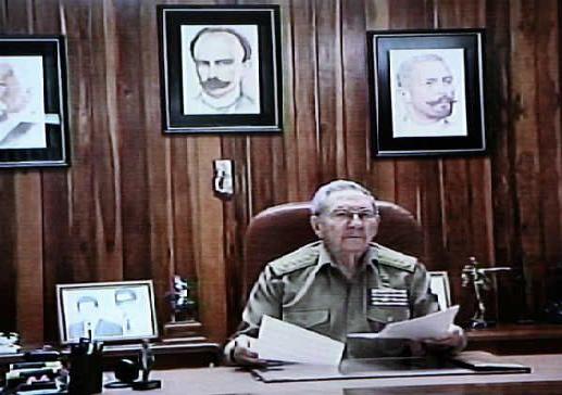 Raul Castro Discurso televisivo