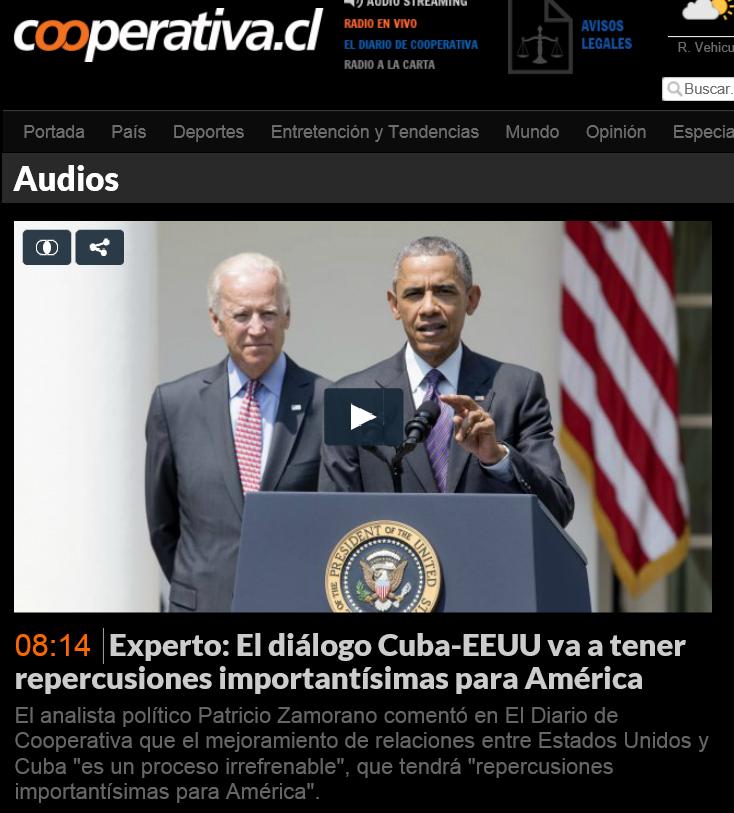 Foto Obama CUBA Cooperativa Patricio Zamorano
